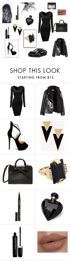 """Без названия #7"" by lina-56 on Polyvore featuring мода, J.TOMSON, Christian Louboutin, Yves Saint Laurent, Marni, Smith & Cult, Lipsy, Marc Jacobs, NARS Cosmetics и Porsche"