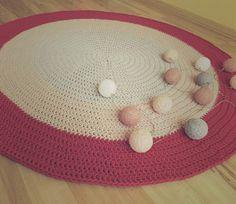 • www.facebook.com/wloczy.sie •   Handmade crochet rug szydełkowy dywan ze sznurka