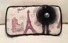 Paris Themed Baby Travel Wipe Case by HaleighsBabyGlam on Etsy, $16.00