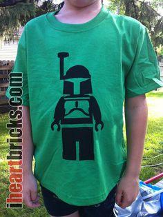 Boba Fett  Star Wars  Screen printed tshirt  Youth by iHEARTbricks, $15.00