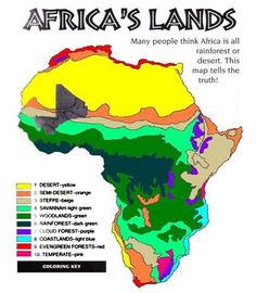 Printable Map of Africa Continent Map of Natural Environment and Climate – Free Printable Maps & Atlas Columbia South America, South America Map, America City, African Rainforest, Rainforest Project, Africa Continent Map, Biomes Of South Africa, Climate Of Africa, Dioramas