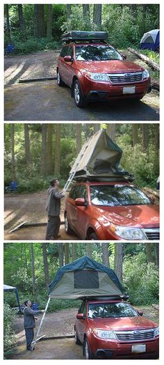Car top tent on 2010 Forester