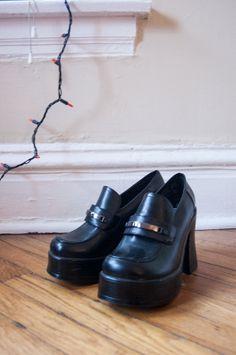027a20a7680c1a 90s club kid chunky black platform boots women s 8.5 by babewear