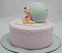 How cute is this! baby shower cake