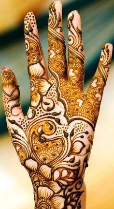 Cute Arabic Mehndi Designs for Hands for wedding