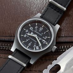 Intended for field army services  VenerableETA-2801 movement  Encapsulated tritium for low light settings  316L surgical grade stainless steel case  Swiss made authentic military watch