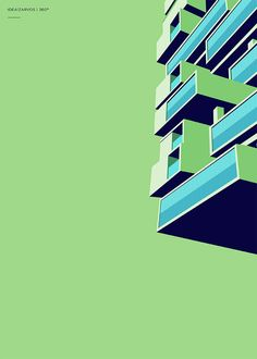Colorful Architectural Illustrations by Henrique Folster | Inspiration Grid | Design Inspiration