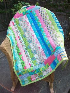 Vibrant Stripes Baby Quilt project on Craftsy.com