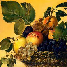 fruits basket original canvas oil painting handmade Caravaggio ...