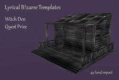 Merchant: Lyrical Bizarre Templates Prize Name: Witch Den Prize Type: Build Den, Bookends, Witch, Lyrics, Templates, Type, Building, Home Decor, Stencils