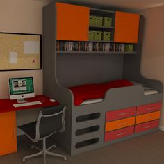 Cool Storage Bed great idea for older kids and teenagers www.bdichildrensfurniture.co.uk