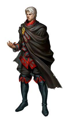 Male Human Sorcerer or Wizard - Pathfinder PFRPG DND D&D d20 fantasy