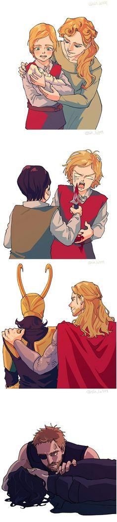 Thor & Loki || Avengers Infinity War || Frigga || Thor trilogy || Cr: sin_la999