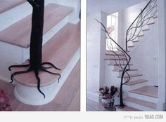 This is such a cool idea for a stairway! Love it, love it, love it.