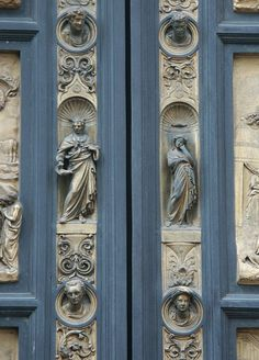 Lorenzo Ghiberti's Gates of Paradise on the Duomo's Baptistry in Florence, Italy.