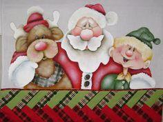 pintura em tecido motivo natal - Pesquisa Google