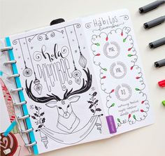 Christmas Bullet Journal Layout Ideas: December Cover Page
