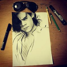 harry styles watercolor painting - Google Search
