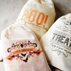 Trick-or-Treat! 15 Bag & Bucket Ideas: Printable Drawstring Bags (via Parents.com)