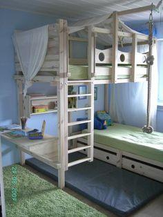 Hochbett Kinderbett Etagenbett Babybett Abenteuerbett Hochbetten Spielbett…