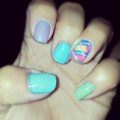 Konad and braid nail art