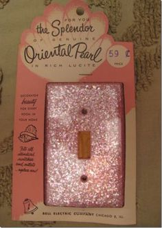 Pink Oriental Pearl Lucite light switch cover