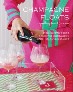 Sorbet and Champagne Floats