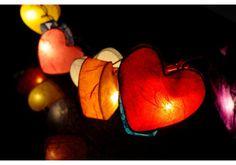 Rainbow Love Heart Lights