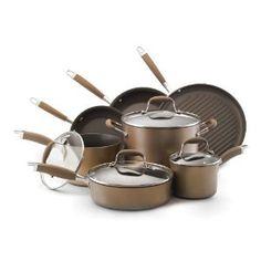 #10: Anolon Advanced Bronze Collection Hard Anodized Nonstick Cookware Set, 11-Piece.