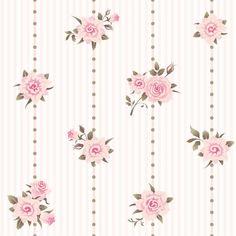Papel de Parede Autocolante Flores Bolinhas Listrado 292153838 » Papel de Parede Floral