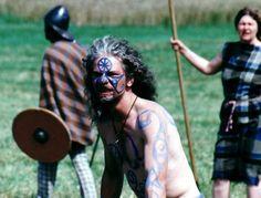 Celts, war paint, taranis wheel