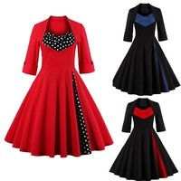 1、MMaterial: Cotton+ Polyester 2、Garment Care: Hand-wash and Dry Clean. 3、Fit and flare,, knee lengt
