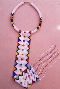 White African zulu necklace African necklaces Long tassel   Etsy African Tribal Jewelry, African Beads Necklace, Beaded Necklace, Ethnic Jewelry, Rope Jewelry, Bead Jewellery, Beaded Bracelet Patterns, Beading Patterns, Necklace Tutorial