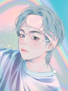 Jungkook Fanart, Kpop Fanart, Art Anime Fille, Anime Art Girl, Bts Taehyung, Jimin, Cartoon Wallpaper, Bts Wallpaper, Arte Copic