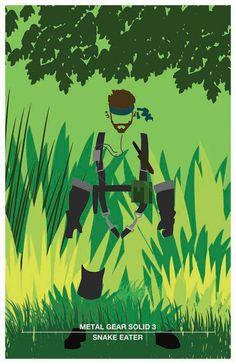 Metal Gear Solid 3 by Sam Cook, via Behance Metal Gear Solid Ps1, Metal Gear Solid Series, Videogames, Metal Gear Games, Gear Art, Kojima Productions, Video Game Art, Cosplay, Hack And Slash