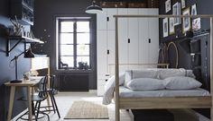 New Bedroom Wardrobe Bed Robes 47 Ideas Ikea Bedroom, Small Room Bedroom, White Bedroom, Bedroom Decor, Bedroom Ideas, Cozy Bedroom, Canapé Design, Interior Design, Design Ideas
