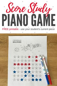 Blast Off With A Score Study Piano Printable That Is 'Out Of This World'! #teachpianotoday #PianoLessons #PianoTeaching