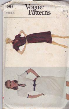Vogue Vintage Muster 7691 Womens locker sitzende von OhSewVogue