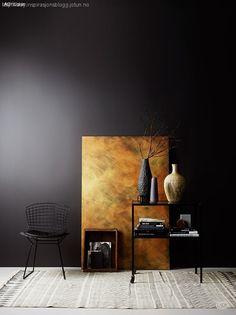 Lisbeth på God Morgen Norge – se fargene her Copper Interior, Grey Interior Design, Side Table Styling, Casual Decor, Elegant Living Room, Room Colors, Beautiful Interiors, Colorful Decor, Interior Architecture