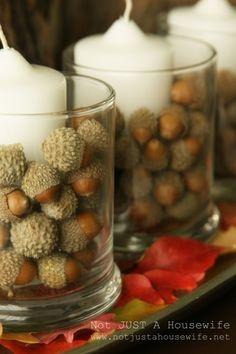 tablescape-acorns