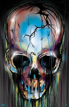 kinda creepy--- SKULLS! by Laedan Galicia aka DINKC, via Behance