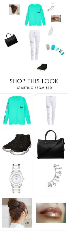"""""""PINK"""" by taviaaaaa on Polyvore featuring Victoria's Secret, NIKE, Paul & Joe, Tissot, BaubleBar and Pin Show"""