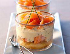 Recette Tiramisu aux deux saumons et ciboulette : http://www.ilgustoitaliano.fr/recette/tiramisu-aux-deux-saumons-et-ciboulette