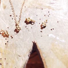 "Tiny 16"" diamond 18k gold cross necklace 