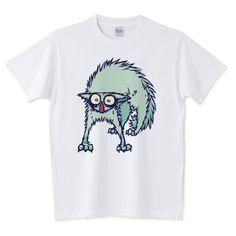 子猫がビビって、ぶにゃわぎゃほぐげがうえ!!! なTシャツ(ΦωΦ) #Tシャツ #猫 #子猫 #ネコ #ttrinity