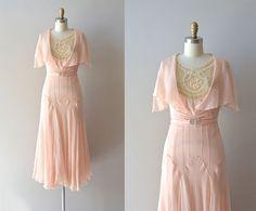 r e s e r v e d...silk 1920s dress / vintage 20s dress / Doucement silk chiffon dress