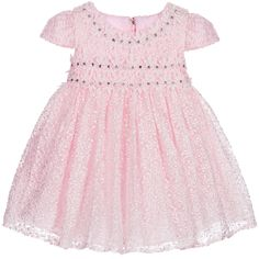 Romano Girls Pink Tulle & Diamanté Occasion Dress at Childrensalon.com