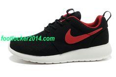 BbYA5S Mens Nike Roshe Run Black Red $49.79
