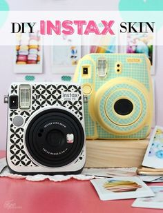 DIY Instax Camera Sticker- FREE Silhouette Cut File - Instax Camera - ideas of Instax Camera. Trending Instax Camera for sales. - Create your own unique DIY Instax Camera Sticker with the Silhouette. Many color and pattern possibilities! Instax Mini 70, Fujifilm Instax Mini 8, Poloroid Camera, Polaroid Instax, Mini Camera, Slr Camera, Camara Fujifilm, Cool Diy, Easy Diy
