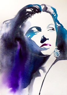 Gene Tierney Hollywood Regency Art Print by KimberlyGodfrey